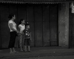 Waiting (Beegee49) Tags: street family mother children waiting bacolod city philippines