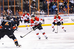 "Kansas City Mavericks vs. Cincinnati Cyclones, February 3, 2018, Silverstein Eye Centers Arena, Independence, Missouri.  Photo: © John Howe / Howe Creative Photography, all rights reserved 2018. • <a style=""font-size:0.8em;"" href=""http://www.flickr.com/photos/134016632@N02/39407448624/"" target=""_blank"">View on Flickr</a>"