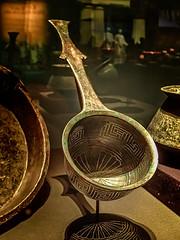 Beautiful Bronze Roman Colander from a kitchen in Pompeii 1st century BCE (mharrsch) Tags: colander strainer ancient bronze kitchen roman 1stcenturybce pompeii omsi portland oregon mharrsch