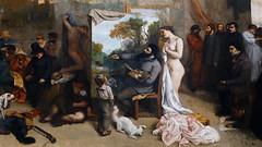 Courbet, The Studio, center detail