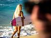 Faces of Heat (allevilbbb) Tags: blonde surfer girl beach waves hawaii oahu waimeabay facesofheat sunglasses designersunglasses surfboard anklebracelet winter ageofaquarius spy outoffocus candid
