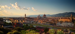 as the clouds roll in (khrawlings) Tags: clouds sunset dusk evening city view florence italy duomo river arno pontevecchio skyline cityscape hedge tower cathedral tuscany palazzovecchio hills