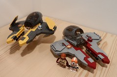 Eta-2 Jedi Interceptor (Fithboy) Tags: lego star wars eta fihter fighter jedi interceptor starfighter space spaceship ship anakin obi wan revenge sith cody