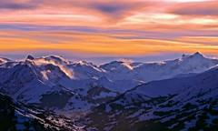 Mountain View (sylviafurrer) Tags: berge mountain view aussicht abendstimmung eveninglight schnee snow wolken clouds