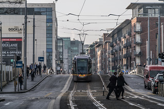 LUAS TRAM STOP AT SPENCER DOCK [11 JANUARY 2018]-135344