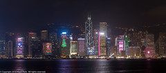 Hong Kong Waterfront (Pexpix) Tags: lights night offices skyline waterfront buildings newyear 2018 water harbour city panoramic panorama christmas pano sea 攝影發燒友