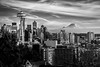 Seattle, WA (www.kjc.photos) Tags: kerrypark seattle skyscrape urban blackwhite skyline mtrainier
