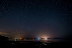 morning stars (Borderli) Tags: scotland oban argyll benderloch tralee beach traleebeach night sky stars connel morning nikon d750 longexposure