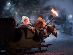 Zakopane 4 (the torch) (iwona_podlasinska) Tags: winter torch sleigh kids