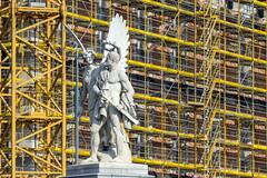 nike crowns the hero (bilderkombinat berlin) Tags: ⨀2016 berlin mitte europa eu castle construction statue bridge sculpture nike day daylight scaffolding framework germany deutschland statues