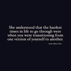 Success Quotes : ❝She understood that the hardest times in life to go through were when you wer… (omgquotes.com) Tags: quotes life love inspirational motivational