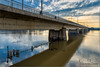 Brug over het water (Hans van Bockel) Tags: 1680mm bruggen d7200 hoogwater ijssel natuur natuurgebied nikkor nikon rivier spoorbrug water waterstand worp deventer overijssel nederland nl
