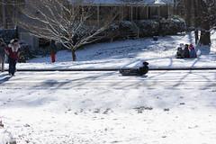 Snow Day! (Maggggie) Tags: snow street sled fun unusual hometowncharm 52weeksof2018