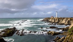 Point Arena Lighthouse 1 (Brian Snowden Photography) Tags: california beauty joy interesting pentaxk3 northerncalifornia pentax1530 tamron1530 landscape gloomy weather cloudy overcast rain pointarena lighthouse colors detail wiode