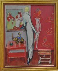 """""""Amusement"""", 1914, Kees van Dongen (1897-1968), Musée de Grenoble, Grenoble, Rhône-Alpes-Auvergne, France. (byb64) Tags: muséedegrenoble musée museo museum grenoble isère 38 rhônealpes dauphiné france frankreich francia europe europa eu ue xxe 20th peinture painting dipinto cuadro tableau postimpressionnisme postimpressionniste keesvandongen amusement rouge red rosso rojo"""