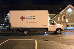American Red Cross (Curtis Gregory Perry) Tags: salem oregon american red cross van truck ford night long exposure vehicle donation blood services region nikon d810 parking lot