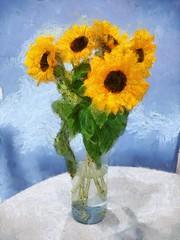 Słoneczniki (dwakretki) Tags: painterly digitalart dwakretki dynamicautopainter xperia soe aoi flowerwatcher