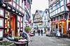 Medieval Town (PixelSky Photo (Mel M.)) Tags: town medievaltown germany europe alley street people cafe travel brick road oldtown oldvillage hdr