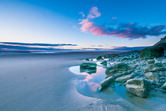 Llansteffan Dawn (Chris J Richards Photography) Tags: landscape beach bluehour carmarthenshire cliffs clouds coast cymru llansteffan morning reflections rockpools rocks sand seasons sunrise time wales winter