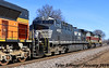 4/5 NS 1074(Lackawanna) Leads NB Empty Coal Drag Lenexa, KS 1-24-18 (KansasScanner) Tags: lenexa kansas bnsf train railroad ns ns1074 lackawanna