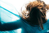 The Flow series 3 (Paula.photo) Tags: movement flowing fabric freeze frozen time blue silk hair selfportrait nikon d750