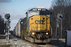 Splitting 101 (conrail6809) Tags: emd sd60 sd60m sd60i csx conrail cr pere marquette signal signals searchlight michigan trains railroads co