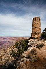 the watchtower (almostsummersky) Tags: horizon rockformation winter canyon nationalpark desertview coloradoriver clouds sandstone desertviewwatchtower grandcanyon tower river watchtower rocks grandcanyonnationalpark sky arizona people desert cliff edge