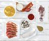 Ingredientes_fideua (Mandahuevos.net) Tags: cocina cono contornos fideos fideuá flashdeestudio fotografía fumet galeras luz marisco mediterránea pescado receta sabor sinécdoque sofrito ventana