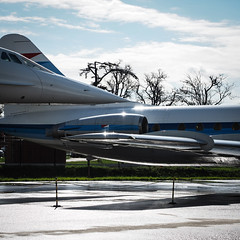 Concorde kisses Caravelle (real ramona) Tags: plane aircraft concorde caravelle toulouse blagnac airport france
