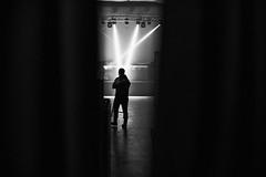 Sneaking a peek through the curtains...170.365 (ewitsoe) Tags: monochrome blackandwhite bnw mono ewitsoe warsaw warszawa poland man performance night work canon eos 6dii street urban cityscape 365 170
