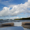 Boating Under a Fantastic Sky (soniaadammurray - Off) Tags: digitalphotography sky clouds water sea land trees boat nature boating seascape skyscape martesdenubes martedidinuvole nicewonderfultuesdayclouds blue