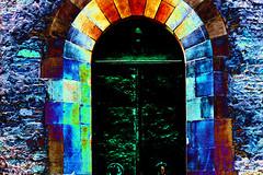 (psychedelic world) Tags: door tür portal dunkel dark speyer dom cathedral church kirche mittelalterlich medieval psychedelisch psychedelic psychedelicworld