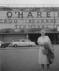 O'Hare Airport early 1960's (Bosco Rama) Tags: plane airport airplane chicago vintage 1960 america aviation building city illinois ii ohare outdoor photo terminal usa vacation gramma