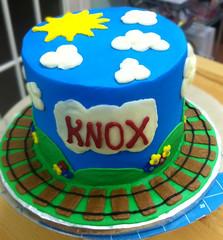 train (backhomebakerytx) Tags: cake birthday kid train tracks boy
