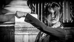 Sevilla (pepoexpress - A few million thanks!) Tags: nikon nikkor d750 nikond750 nikond75024120f4 24120mmafs pepoexpress people street streetphotography sevilla plazadeespañadesevilla flamenco bailaora portraits bw