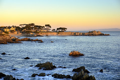 Lovers Point Sunrise (MaryCPS) Tags: pacificgrove california sunrise seascape shoreline cypress