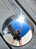 Convex Sunbeam & Selfie Snatcher (splinx1) Tags: hdr handheld selfie sun sunbeam flare mirror wood deck canon art canonart chdk selfportrait canonpowershotelph330hs circle sky sunshine california texture hss snazzysunbeamsnatcher