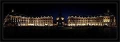 Place de la Bourse (Jean-Louis DUMAS) Tags: bordeaux night dark ville panoramique architecture architecte art artist artistic artistique nightshot