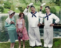 Gloria Greer, Anne Cornwall, Oliver Hardy and Stan Laurel in Men O' War (Chicken 62) Tags: gloria greer anne cornwall oliver hardy stan laurel men o war