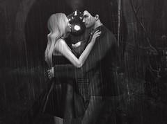 Un dernier baiser... ( a kiss challenge) (Opale Lily) Tags: netherwood train monochrome kiss couple love