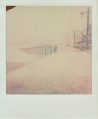 Snow by the Sea (ifleming) Tags: itypecolourfilm devon sidmouth expiredfilm impossibleproject instantlab
