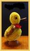 Getting ready for Easter (boeckli) Tags: smileonsaturday sunnyyellow animal duck ente ostern easter plüsch plush tier gelb yellow photoborder rahmen 7dwf