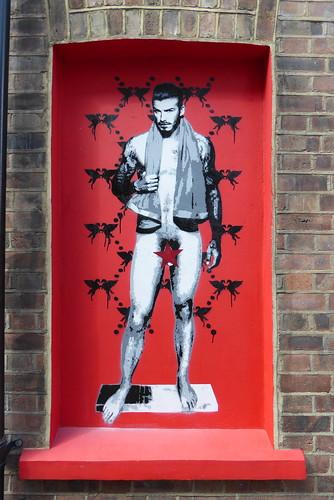 David Beckham stencil, Pegasus, Shoreditch
