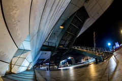 MC Peleng 8 mm f/ 3.5 A ( МС Пеленг 3,5/8А ) - DSCF4670 (::Lens a Lot::) Tags: fisheye mc peleng 8 mm f 35 a 6 blades aperture | m42 or nikon mount paris 2017 darkness underground noise night light street streetphotography white vintage manual prime fixed length classic lens ruelle personnes route bâtiment gate lignes train plafond russian color blue yellow red flare nuit ciel 2018 intersection