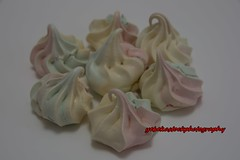 meringue (Kirlikedi) Tags: blue cake candy colored dessert eat egg eggwhite pink snack sugary twisted yellow
