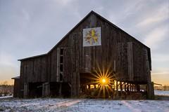 """Elkchester Road"" (the_lowe_life) Tags: photopills farm photography barn snow winter d600 nikon 2470 tamron sunstar sunrise dawn kentuckykicksass lexington kentucky"