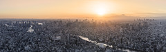 Sunset on the Land of the Rising Sun (NOAC_) Tags: tokyo japan skyline cityscape city urban sunset dusk light sun pentaxk5iis panorama panoramic sharp quality asia capital cities aerial wideangle widescreen travel goldenhour tonemapping mount fuji