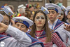 Ahoy there, join the navy (Frankhuizen Photography) Tags: marine navy boy girl groeëte rogstaekers optocht weert netherlands 2017 street straat fotografie photography portret portrait vastenavond vastelaovond carnaval carnival blue blauw rood red meisje join there