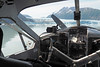 Glacier Lake Landing (PDX Bailey) Tags: glacier mountain sky cockpit snow water lake alaska inside cabin prop throttle mixture controls control flaps windshield