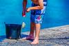 Fisherboy (Theresa Hall (teniche)) Tags: 2018 australia australiaday australiaday2018 canberra nsw newsouthwales nikond750 tamron70200 teniche theentrance theresahall wyee boy bucket fish fisherman fishing littlefish ocean sea